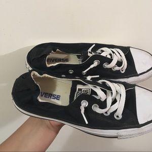 Black, Slip on converse